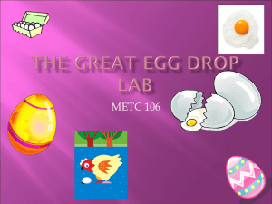 The Great Egg Drop Lab PowerPoint - Ivy Tech -