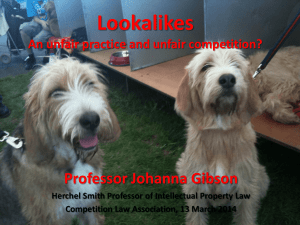 Lookalikes An unfair practice and unfair competition? Professor