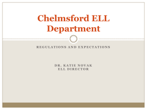 Chelmsford ELL Powerpoint