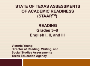 ELA Update: TEKS and TAKS