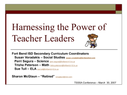 Harnessing the Power of Teacher/Leaders