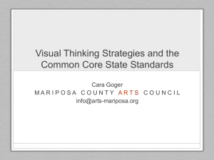 Visual Thinking Strategies and the Common Core State Standards