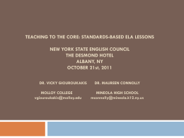 Title of Proposal: _Teaching to the Core: Standards
