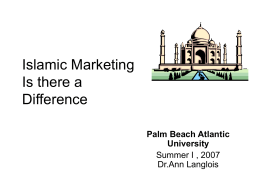 Current Trends- Marketing to Muslims in the US