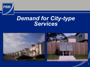 Demand for City-Type Services - county of bexar, texas