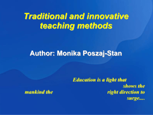 Traditional and innovative teaching methods