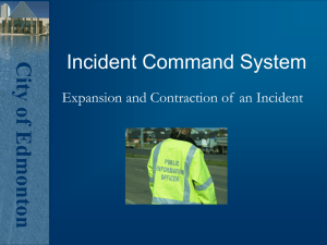 Incident Command System - Alberta Emergency Management Agency