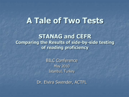 A tale of Two Tests