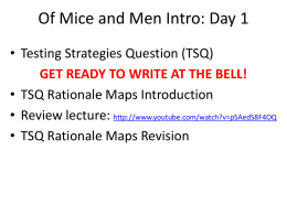 Of Mice & Men Close Reading