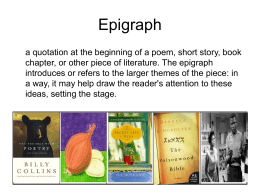 epigraphs - teachersteachingwriting