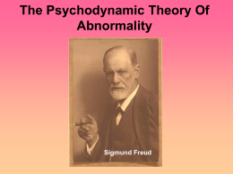 Psychodynamic Approach Powerpoint