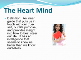 The Heart Mind - Palomar College