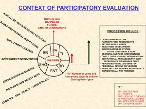 Participatory evaluation - The Resource Centre for participatory