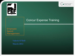 PowerPoint overview of the eExpense system and process
