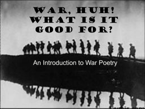 War Poetry Stimulus For Creative Writing