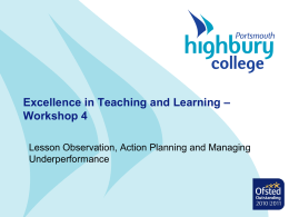 Excellence in Teaching and Learning
