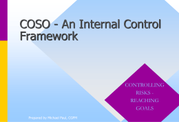 COSO Presentation-An Internal Control Framework