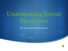 Special Populations - High School District 214