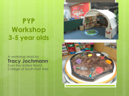 PYP workshop – patana