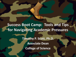 Success Boot Camp - College of Science