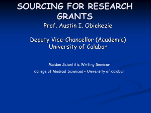 Med Sch. Sourcing for Research Grants