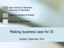 business case for a system