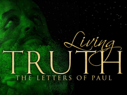 Living Truth Ephesians – Jeromy Puckett