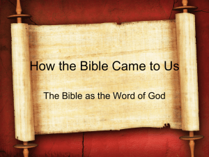 Lesson 1 - Berachah Bible Church