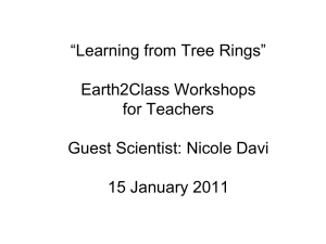 "Learning from Tree Rings"" Earth2Class Workshops for Teachers"