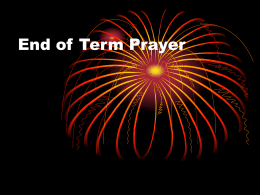 End of Term Prayer