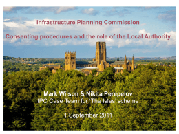 Pre-application work - National Infrastructure Planning