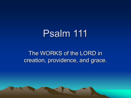 Psalm 111 - CCHS Indy