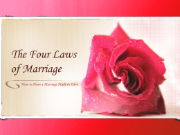 Four Laws of Marriage