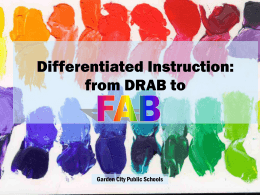 Differentiated Instruction: from DRAB to