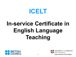 What is ICELT?