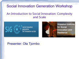 Social Innovation and Resilience Presentation