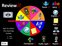 Review Wheel - St Ivo School