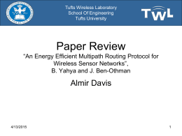 Presentation 05 - Tufts Wireless Laboratory