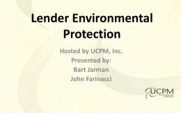 Lender Environmental Training