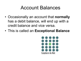 Exceptional Balance