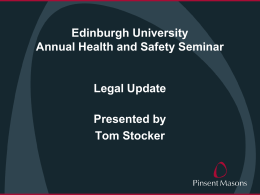 Legal Update - University of Edinburgh
