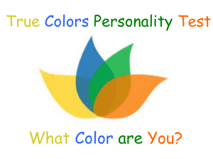 Personality PowerPoint - Fair Lawn Public Schools