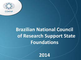 Brazilian National Council of Research Support State