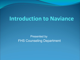 Intro to Naviance - Foothill High School