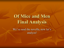 Of Mice and MenFinalAnalysis