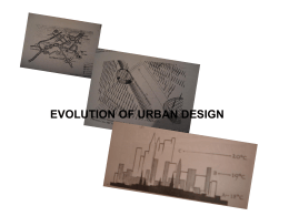 evolution of urban design - Department of Urban And Regional