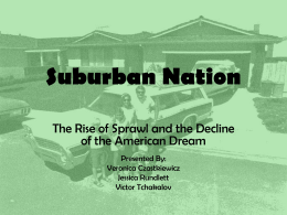 Suburban Nation - Cornell College