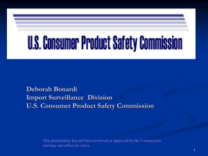 The U.S. Consumer Product Safety Commission