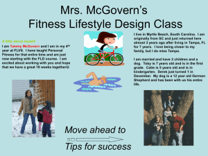 Mrs. Crosby & Mrs. Van Dyke`s Fitness Lifestyle Design Class