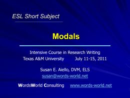 Modals - AuthorAID